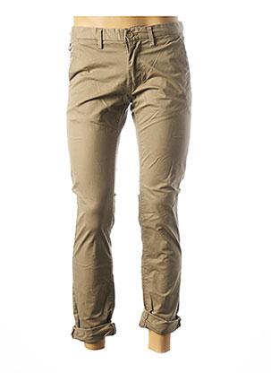 Pantalon casual beige TEDDY SMITH pour homme