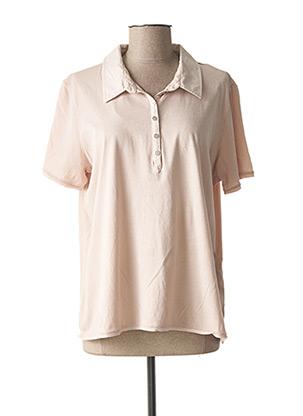 Polo manches courtes rose CONCEPT K pour femme