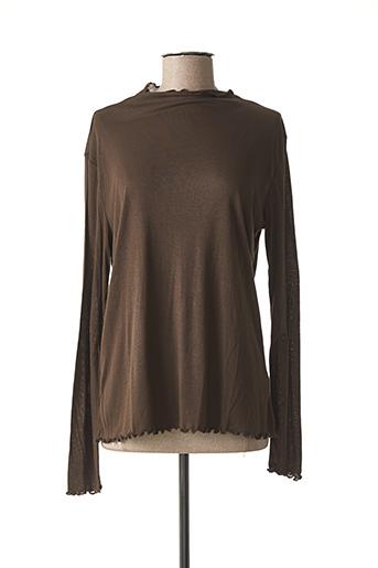 T-shirt manches longues marron YAYA pour femme