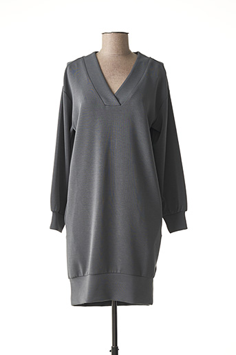 Robe courte gris YAYA pour femme