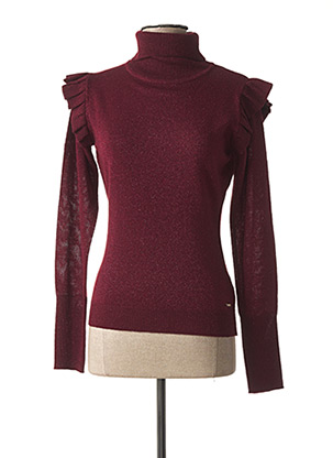 Pull col roulé rouge FRACOMINA pour femme