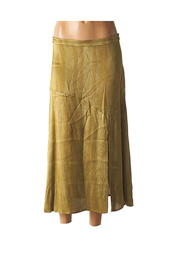 Jupe longue vert YAYA pour femme