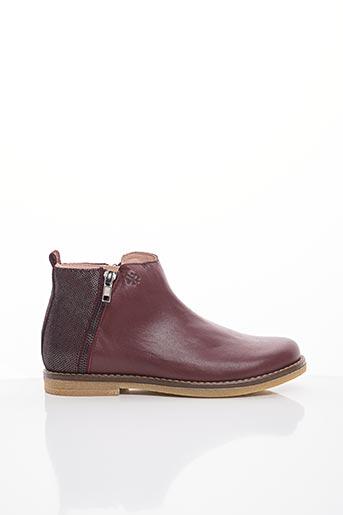 Bottines/Boots rouge ACEBOS pour fille
