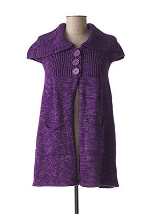 Gilet manches courtes violet MASSANA pour femme