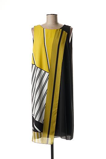 Robe mi-longue jaune TELMAIL pour femme