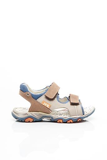 Sandales/Nu pieds gris BOPY pour garçon