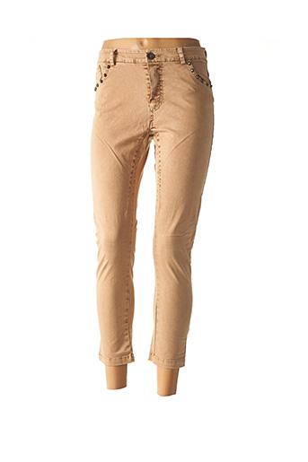 Pantalon 7/8 beige BANDITAS FROM MARSEILLE pour femme