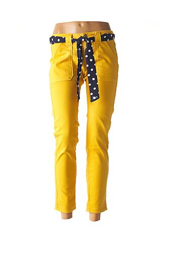 Pantalon 7/8 jaune LE TEMPS DES CERISES pour femme