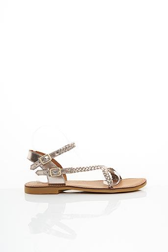 Sandales/Nu pieds beige ADOLIE pour femme