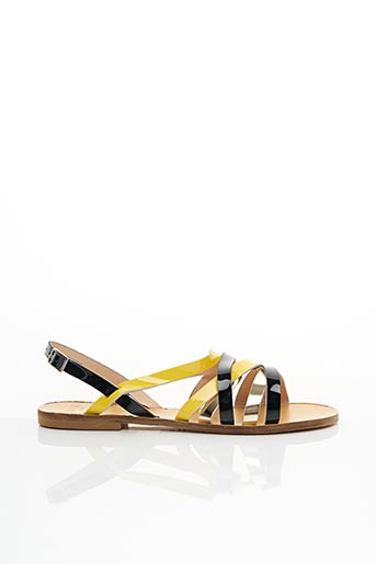 Sandales/Nu pieds jaune ANAKI pour femme