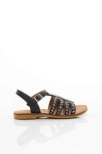 Sandales/Nu pieds noir ADOLIE pour fille