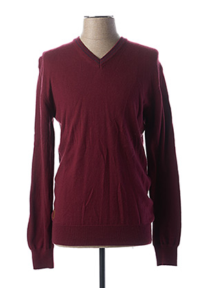 Pull col V rouge RUCKFIELD pour homme