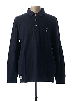 Polo manches longues bleu RUCKFIELD pour homme