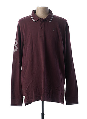 Polo manches longues rouge RUCKFIELD pour homme