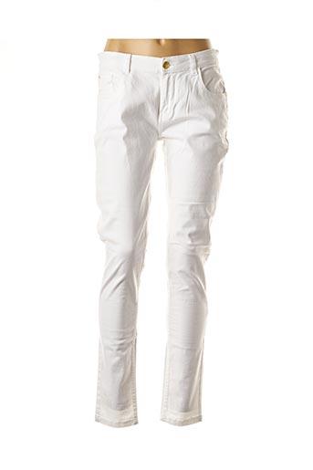 Pantalon casual blanc DEELUXE pour femme