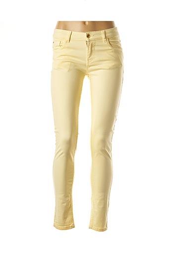 Pantalon casual jaune DEELUXE pour femme