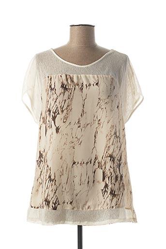 T-shirt manches courtes beige ESCORPION pour femme