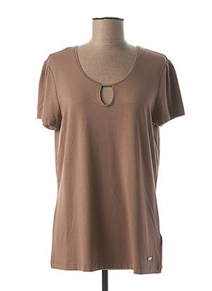 T-shirt manches courtes marron GERRY WEBER pour femme