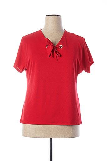 T-shirt manches courtes rouge A PARIS pour femme