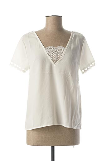 Top blanc ANDY & LUCY pour femme