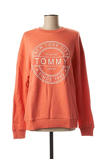 Sweat-shirt orange TOMMY HILFIGER pour femme
