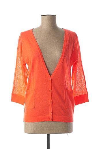 Gilet manches longues orange CKS pour femme