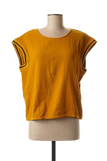 Blouse manches courtes jaune CKS pour femme