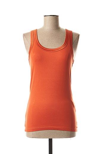 Débardeur orange ICHI pour femme