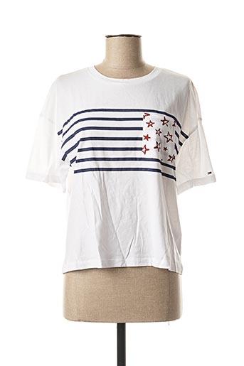 T-shirt manches courtes blanc TOMMY HILFIGER pour femme
