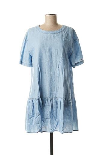 Robe courte bleu TOMMY HILFIGER pour femme