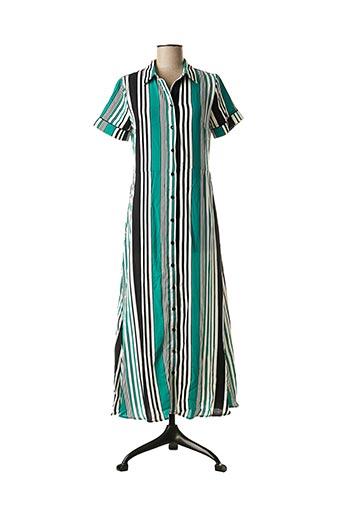 Robe longue vert GRACE & MILA pour femme