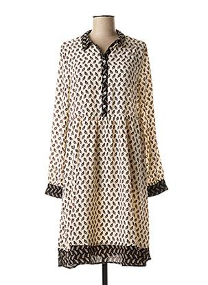 Robe mi-longue beige VILA pour femme