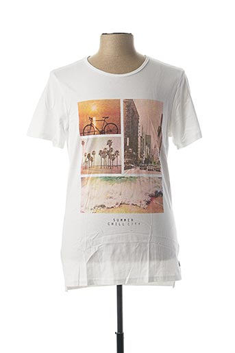 T-shirt manches courtes blanc CASUAL FRIDAY pour homme