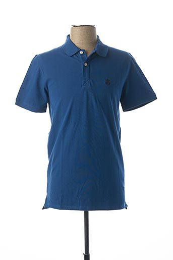 Polo manches courtes bleu SELECTED pour homme
