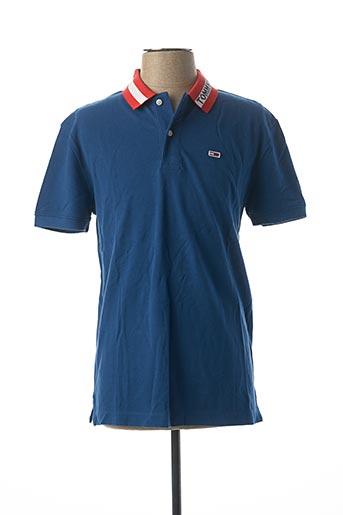 Polo manches courtes bleu TOMMY HILFIGER pour homme