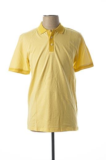 Polo manches courtes jaune SELECTED pour homme