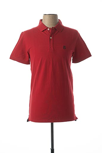 Polo manches courtes rouge SELECTED pour homme
