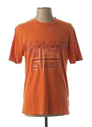 T-shirt manches courtes orange NAPAPIJRI pour homme