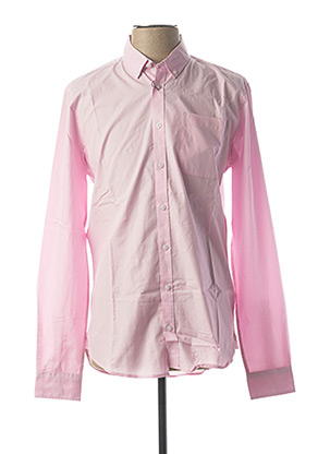 Chemise manches longues rose CASUAL FRIDAY pour homme
