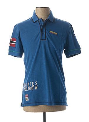 Polo manches courtes bleu NAPAPIJRI pour homme