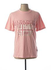 T-shirt manches courtes rose NAPAPIJRI pour homme seconde vue