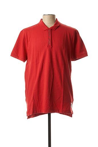 Polo manches courtes rouge TOMMY HILFIGER pour homme