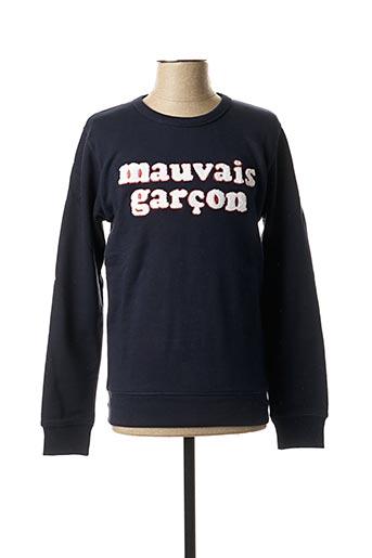 Sweat-shirt bleu SELECTED pour homme