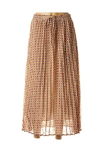 Jupe longue marron GRACE & MILA pour femme