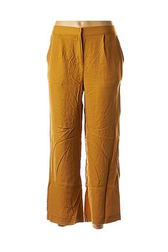 Pantalon 7/8 jaune ICHI pour femme