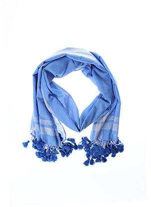 Foulard bleu PIECES pour femme