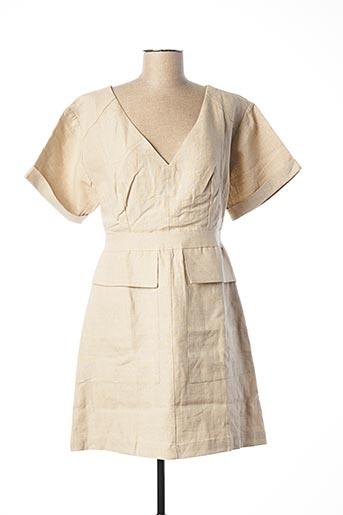 Robe courte beige ADOLFO DOMINGUEZ pour femme
