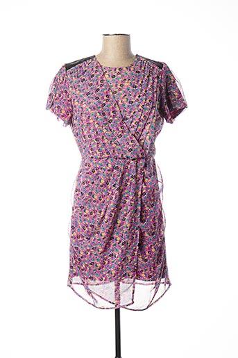 Robe courte violet ADOLFO DOMINGUEZ pour femme