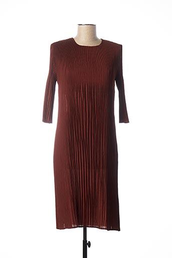 Robe mi-longue marron ADOLFO DOMINGUEZ pour femme