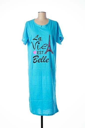 Chemise de nuit bleu DIVAMORE pour femme